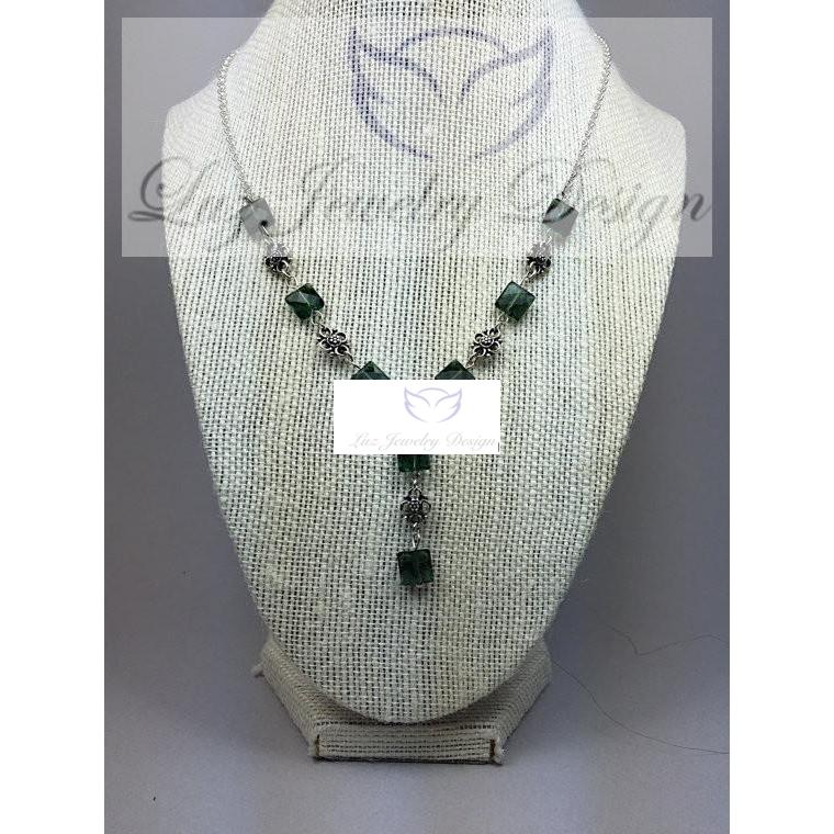 Green amethyst necklace, - Luzjewelrydesign   - 1