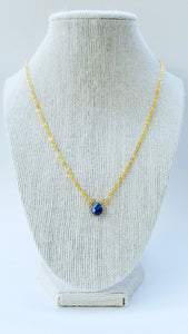 Blue agate necklace - Luzjewelrydesign