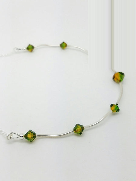 Autumn Necklace | Green Swarovski Necklace