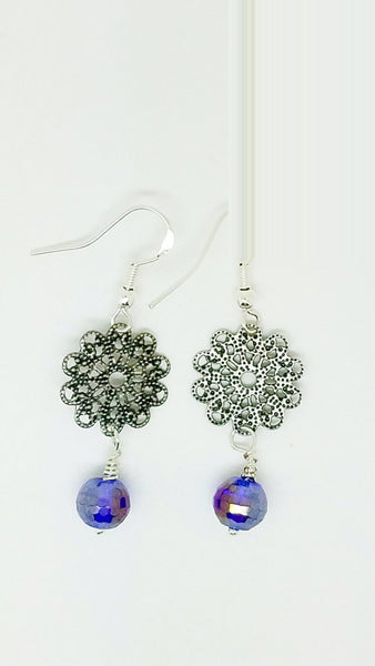 Royal blue earrings, Dark blue earrings, Navy blue earrings, Indigo earrings, cobalt blue earrings, blue earrings women