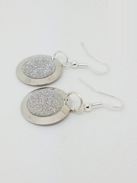 Sterling silver plated earrings, silver earrings, silver jewelry, sterling silver jewelry, shiny silver jewelry, silver