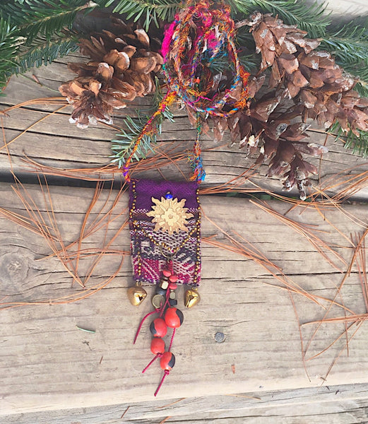 Bolivian Textiles Necklcace - handcrafted Jewelry Luzjewelrydesign