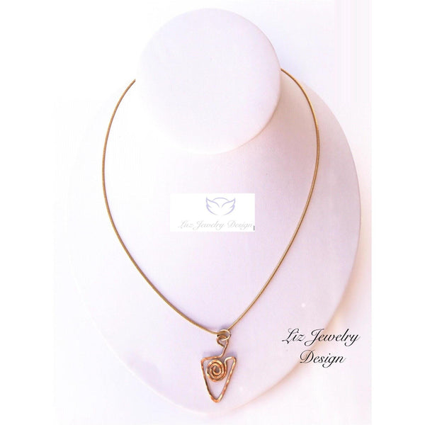 Gold hammer necklace - handcrafted Jewelry Luzjewelrydesign