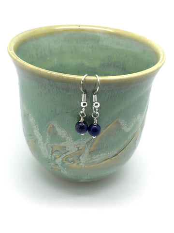 Lapis Lazuli Earrings -Lapis Lazuli Earrings Sterling