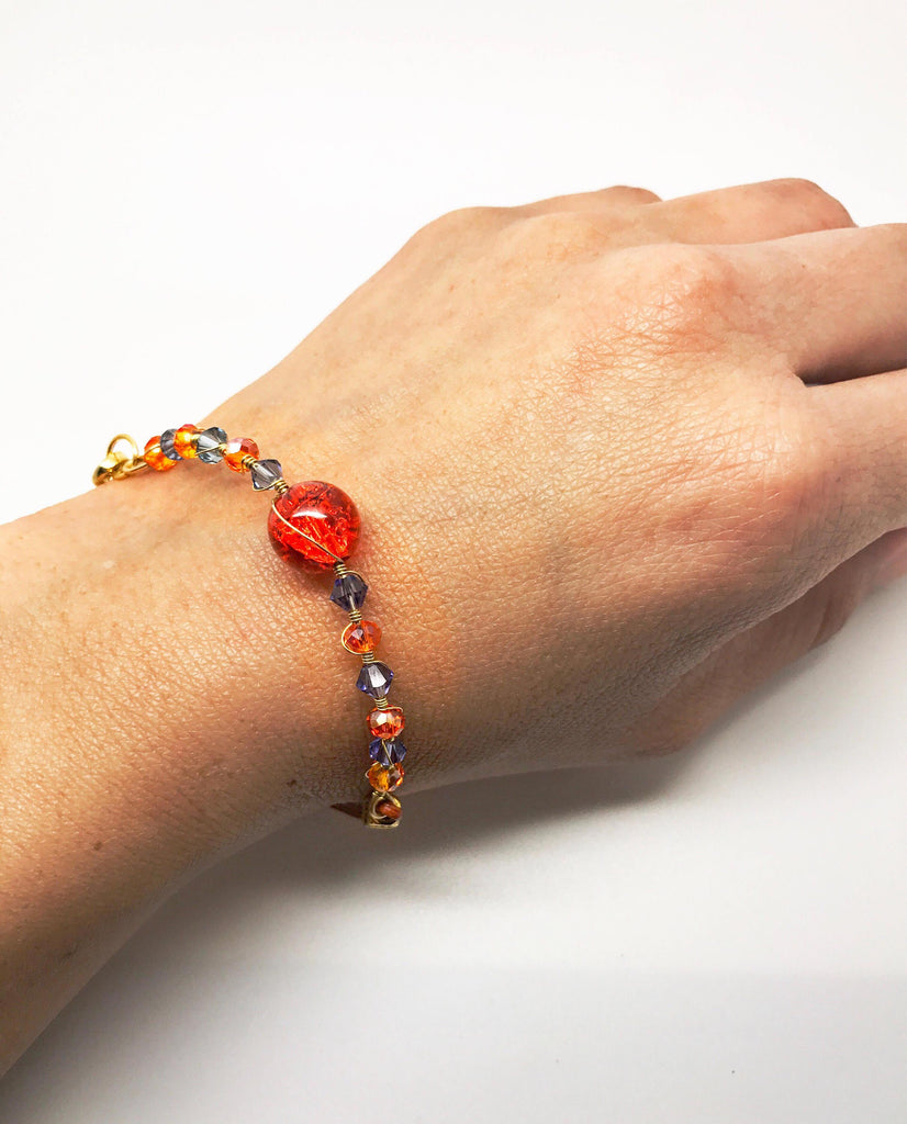 Bright Orange Bracelet - Luzjewelrydesign