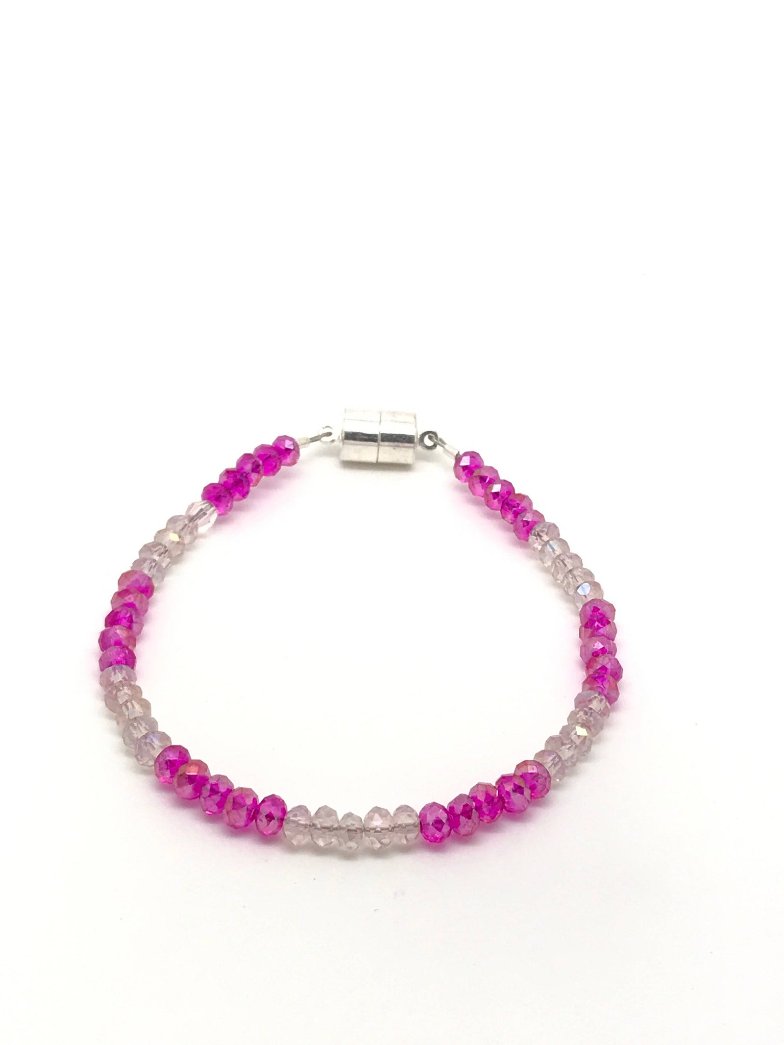 Pink crystal bracelet, pink jewelry, light pink crystal bracelet, light pink bracelet - Luzjewelrydesign