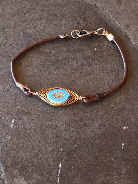 Boho brown bracelet, - Luzjewelrydesign