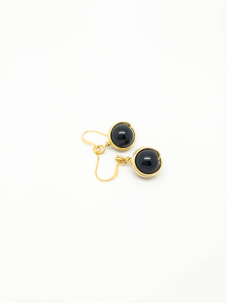 Drop Black Earrings - handcrafted Jewelry Luzjewelrydesign