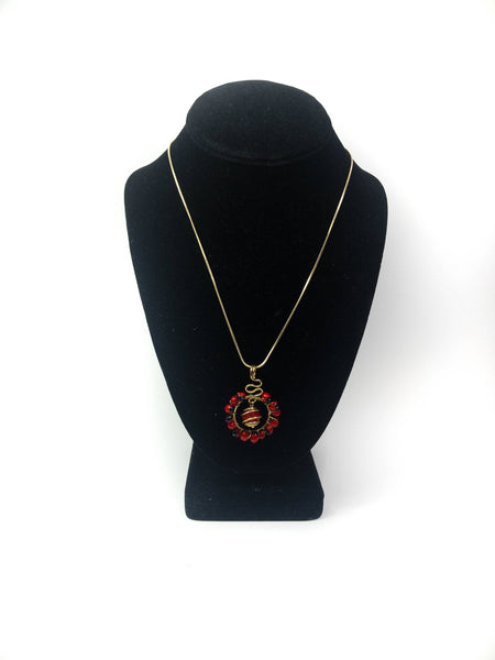 Huayruro necklace, red seed necklace, good lock necklace, huayruro gold neclace, huayruro jewelry, hippie style