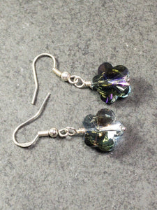 Flower Crystal Earrings - handcrafted Jewelry Luzjewelrydesign