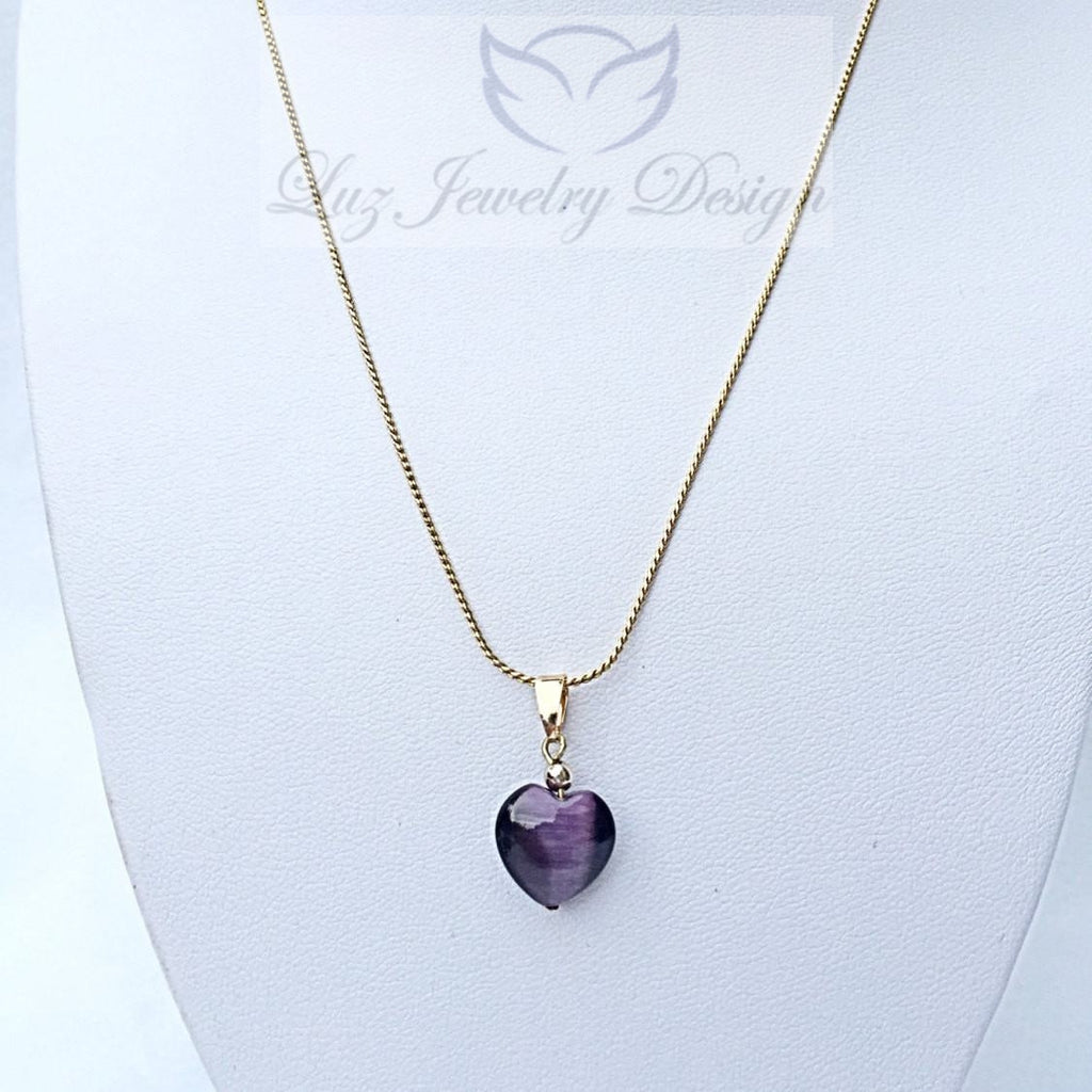 Purple Heart Necklace - Luzjewelrydesign