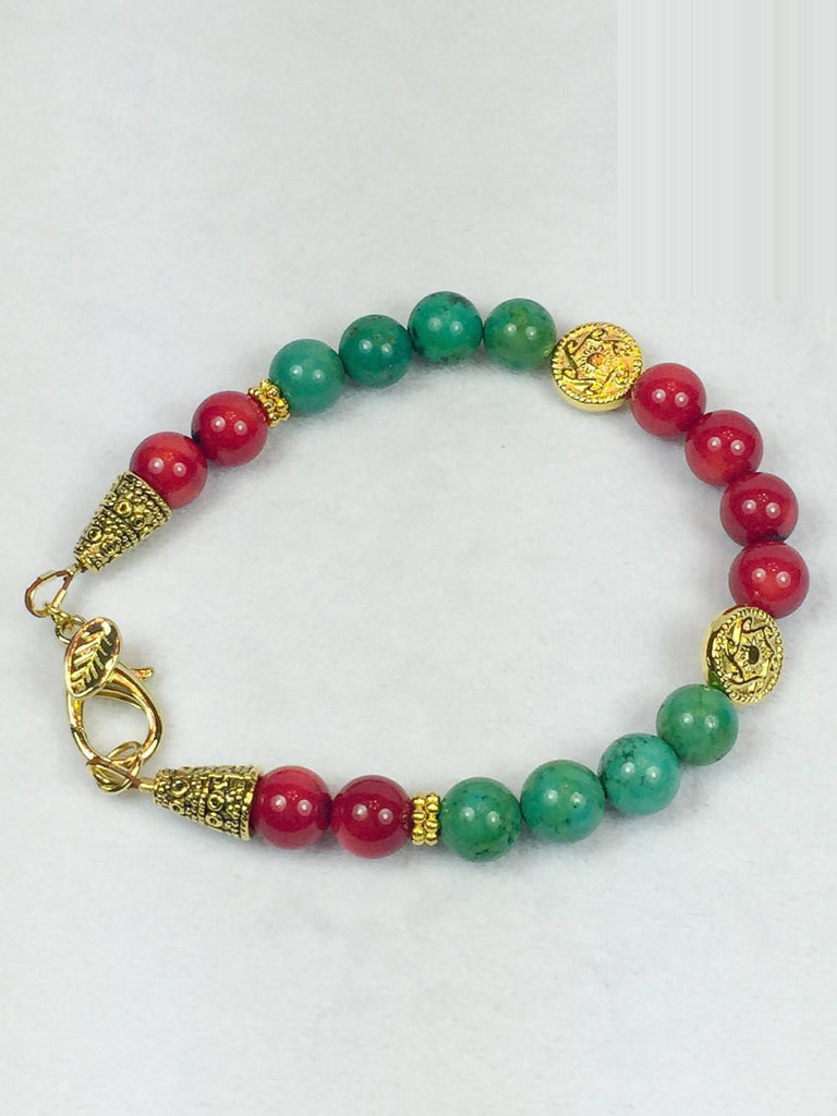 Red and Green Bracelet - Luzjewelrydesign   - 1