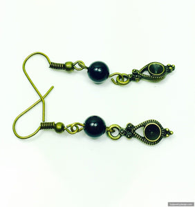 Black Brass dangle - handcrafted Jewelry Luzjewelrydesign