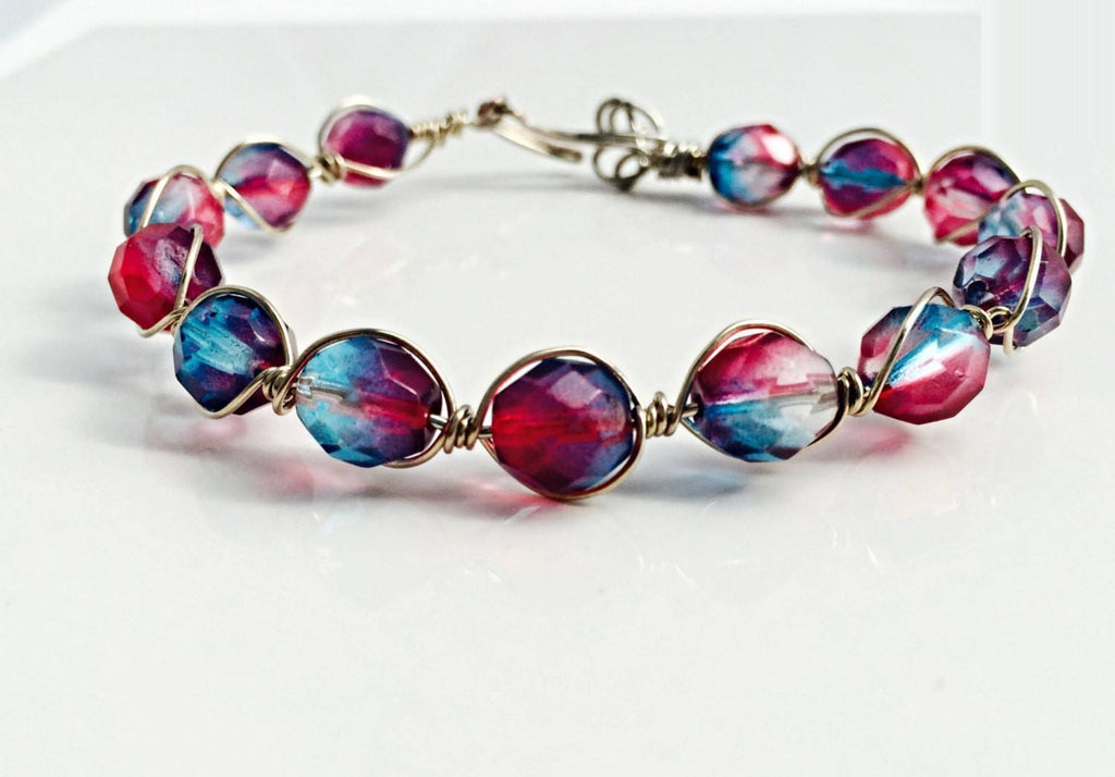 Wire wrapping bracelet - Luzjewelrydesign   - 1