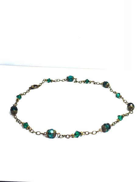 Dark Swarovski Green - handcrafted Jewelry Luzjewelrydesign