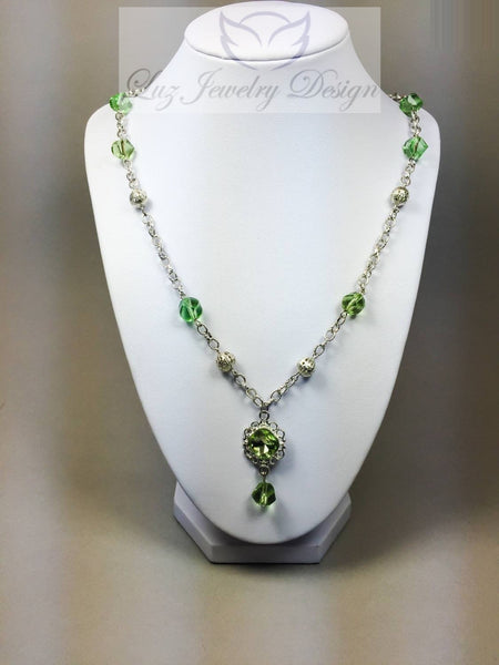 Green necklace - Luzjewelrydesign   - 3