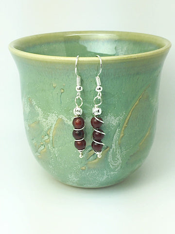 Energizing garnet earrings