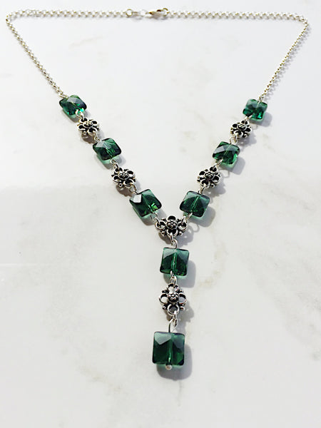 Green amethyst necklace, green amethyst jewelry, green gemstone necklace, green gemstone jewelry, gemstone