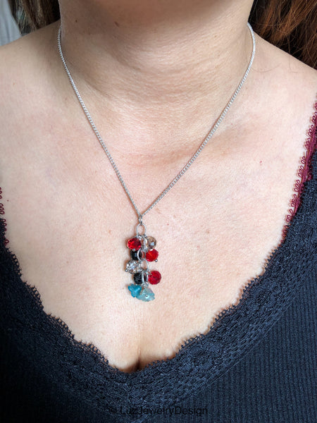 Red Black Blue Necklace