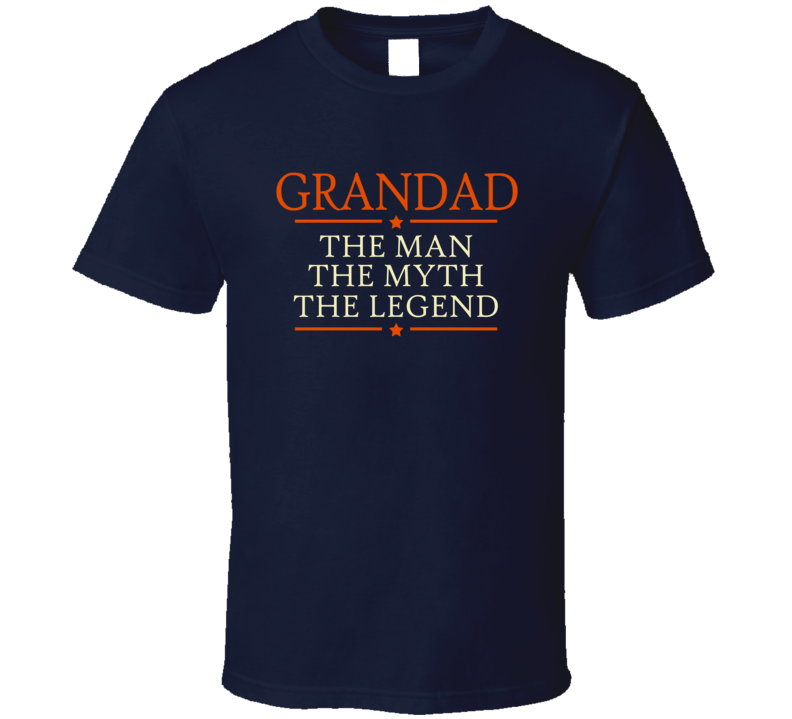 Grandad The Man The Myth The Legend T Shirt - Original James Tee  - 2