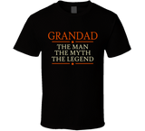 Grandad The Man The Myth The Legend T Shirt - Original James Tee  - 1