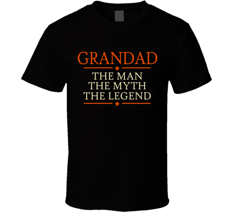 Grandad The Man The Myth The Legend T Shirt - Original James Tee