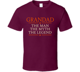 Grandad The Man The Myth The Legend T Shirt - Original James Tee  - 5