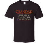 Grandad The Man The Myth The Legend T Shirt - Original James Tee  - 3