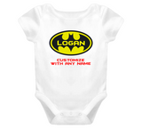 Batman Baby One Piece With Custom Name Baby One Piece personalized any name - Original James Tee  - 1