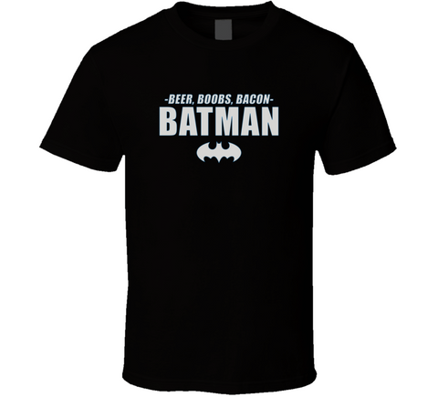 Beer Boobs Bacon Batman - Original James Tee
