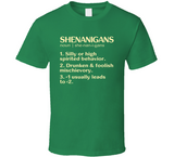 Shenanigans Dictionary Term funny Irish Green Party Drinking St. Patrick's Day T Shirt - Original James Tee