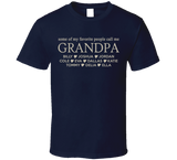 Grandpa T Shirt with Grandkid's Names - Original James Tee  - 4