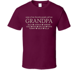 Grandpa T Shirt with Grandkid's Names - Original James Tee  - 5