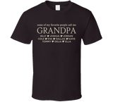 Grandpa T Shirt with Grandkid's Names - Original James Tee  - 3