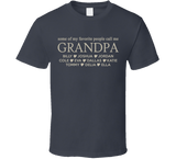 Grandpa T Shirt with Grandkid's Names - Original James Tee  - 2