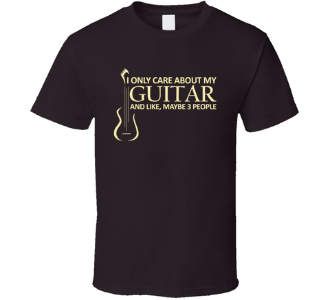 I Only Care About My Guitar T Shirt - Original James Tee  - 1