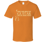 I Only Care About My Guitar T Shirt - Original James Tee  - 6