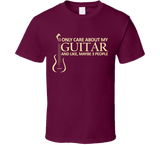 I Only Care About My Guitar T Shirt - Original James Tee  - 7