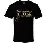 I Only Care About My Guitar T Shirt - Original James Tee  - 2