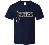 I Only Care About My Guitar T Shirt - Original James Tee  - 5