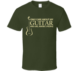 I Only Care About My Guitar T Shirt - Original James Tee  - 4