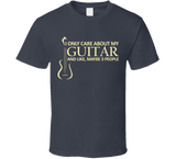 I Only Care About My Guitar T Shirt - Original James Tee  - 3