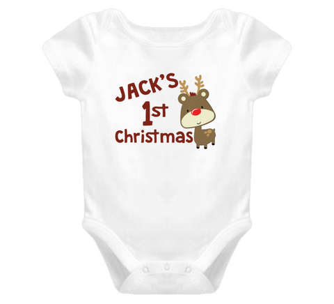 First Christmas Baby One Piece