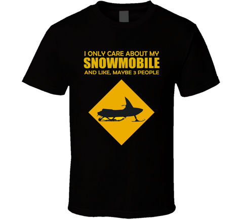 I Only Care About my Snowmobile T Shirt funny ski doo tee - Original James Tee