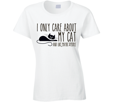 I Only care about my Cat T Shirt - Original James Tee  - 1