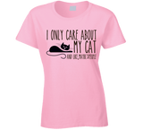 I Only care about my Cat T Shirt - Original James Tee  - 4