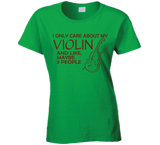 I Only Care About My Violin T Shirt - Original James Tee  - 2