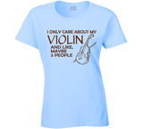 I Only Care About My Violin T Shirt - Original James Tee  - 3