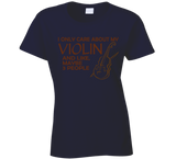 I Only Care About My Violin T Shirt - Original James Tee  - 7
