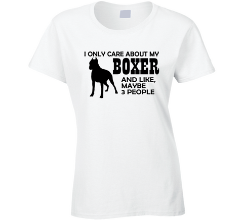 I Only Care About my Boxer T Shirt - Original James Tee  - 1